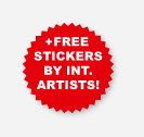 Free bonus stickers!
